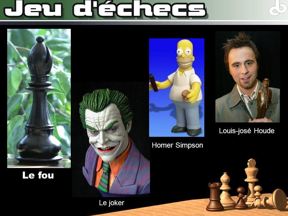 Louis-josé Houde Homer Simpson Le fou Le joker