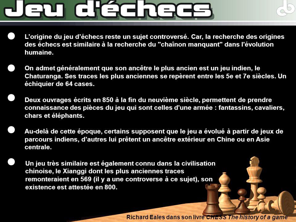 L'origine du jeu d'échecs reste un sujet controversé