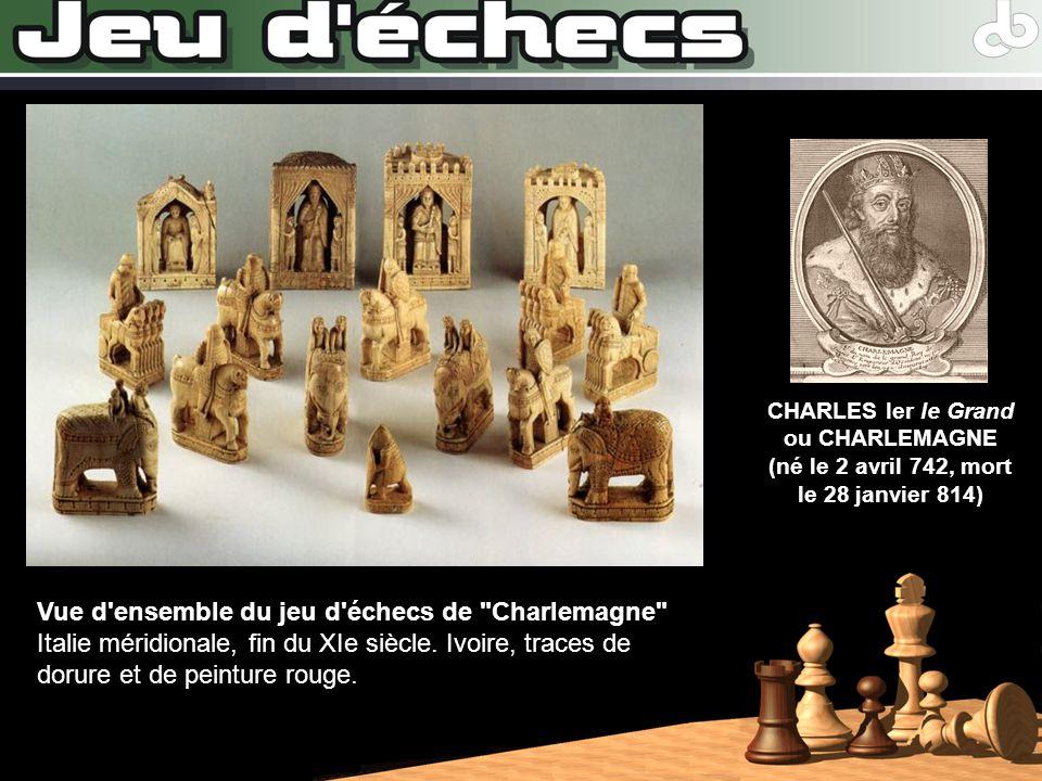 CHARLES Ier le Grand ou CHARLEMAGNE (né le 2 avril 742, mort le 28 janvier 814)