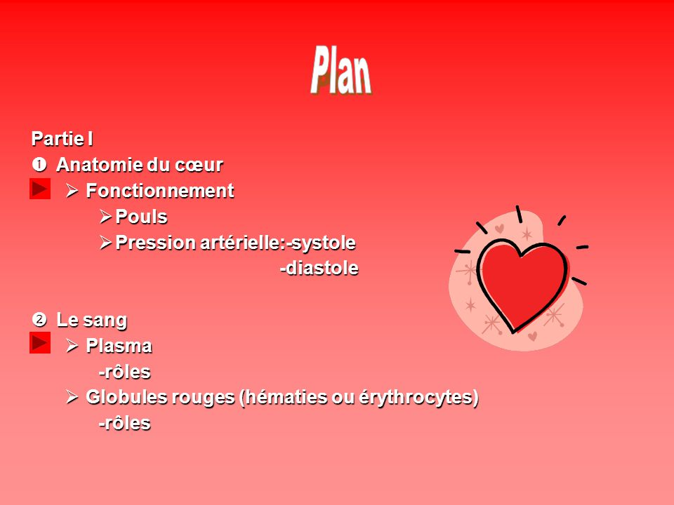Plan Partie I Anatomie du cœur Fonctionnement Pouls