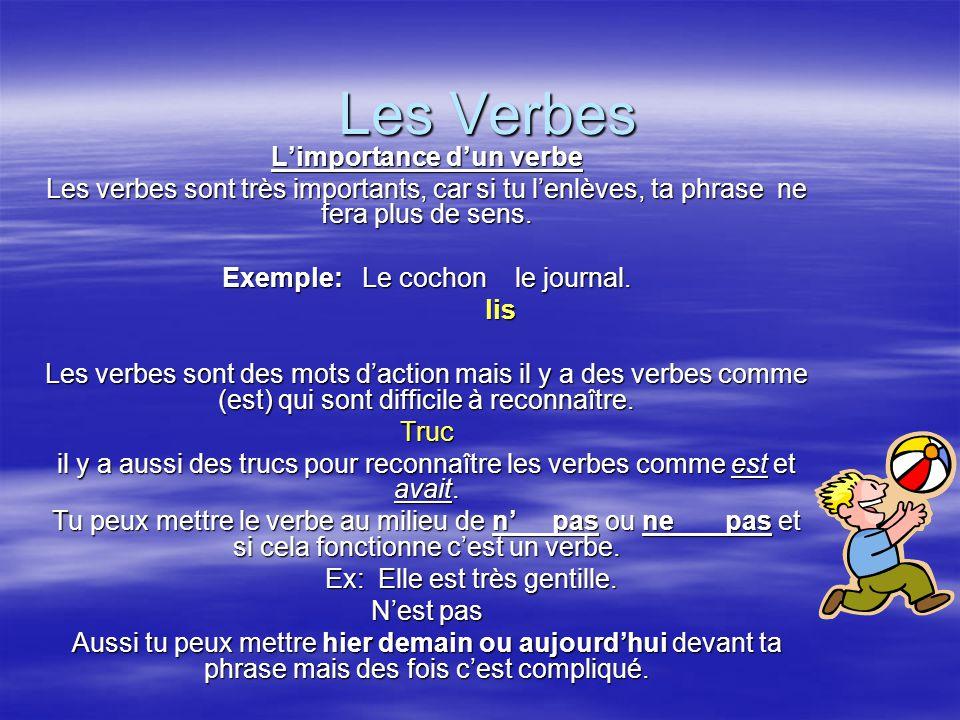 L'importance d'un verbe