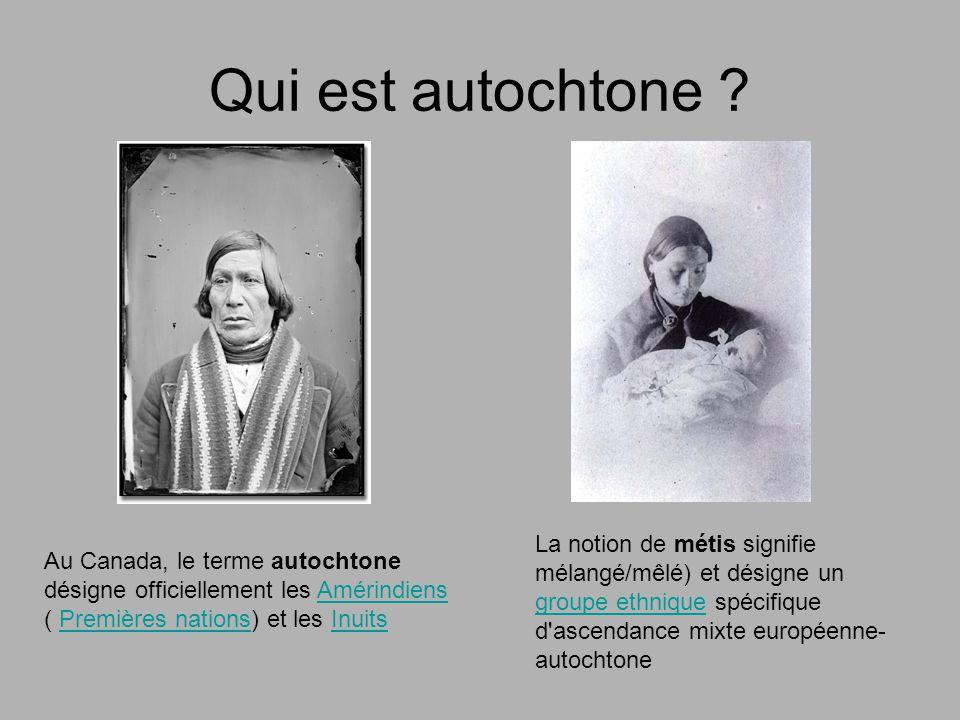 Qui est autochtone La notion de métis signifie mélangé/mêlé) et désigne un groupe ethnique spécifique d ascendance mixte européenne-autochtone.