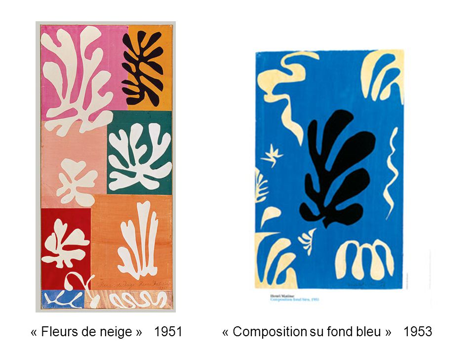 « Composition su fond bleu » 1953