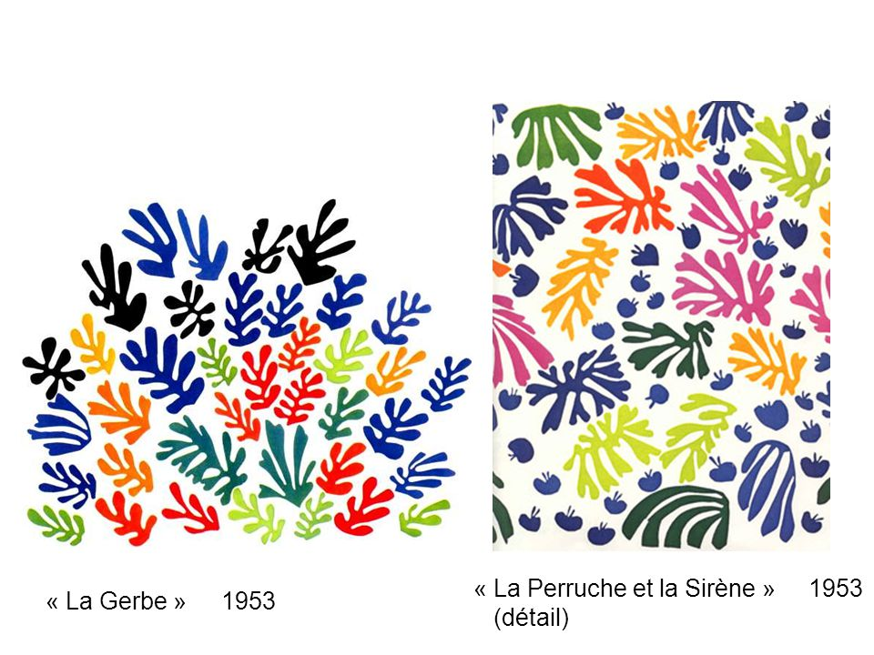 « La Perruche et la Sirène » 1953 (détail)
