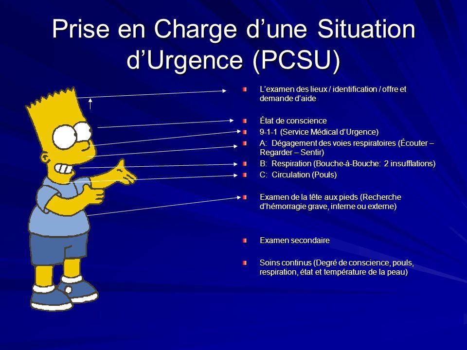 Prise en Charge d'une Situation d'Urgence (PCSU)