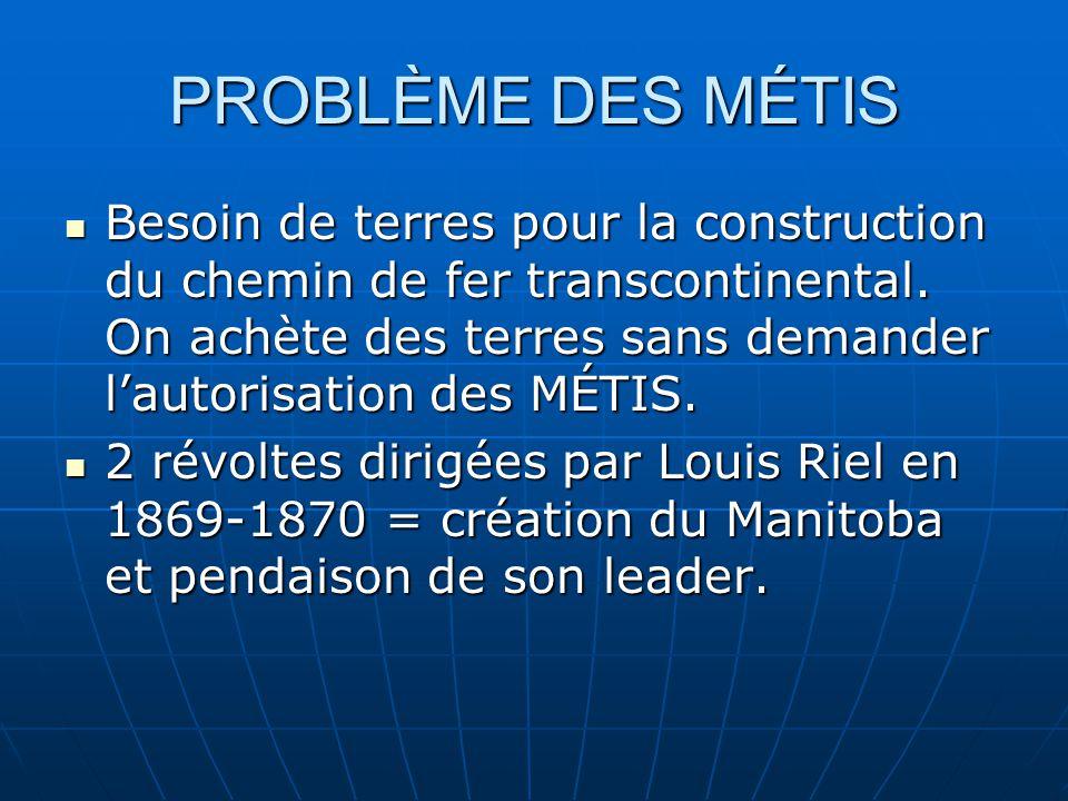 PROBLÈME DES MÉTIS