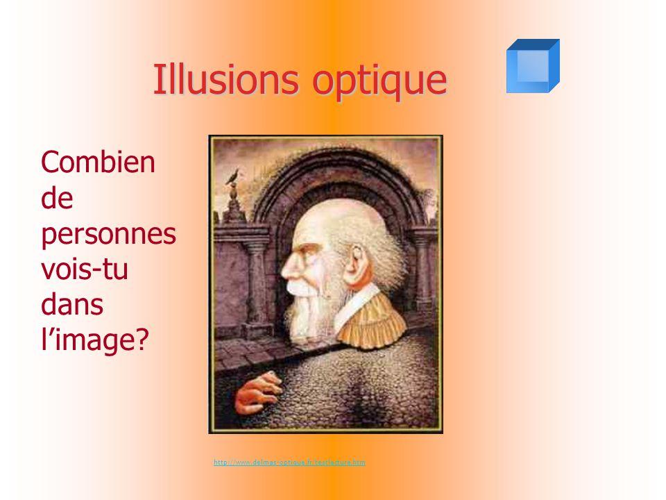 Illusions optique Combien de personnes vois-tu dans l'image