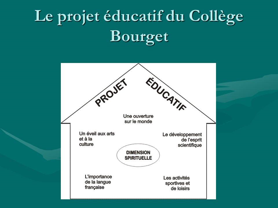 Le projet éducatif du Collège Bourget