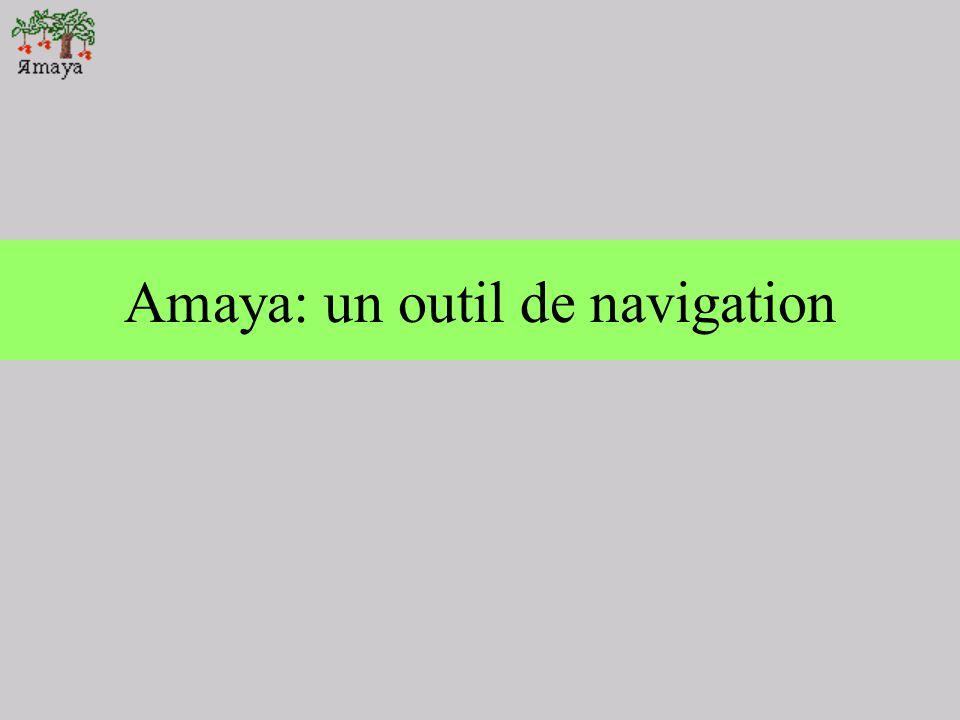 Amaya: un outil de navigation