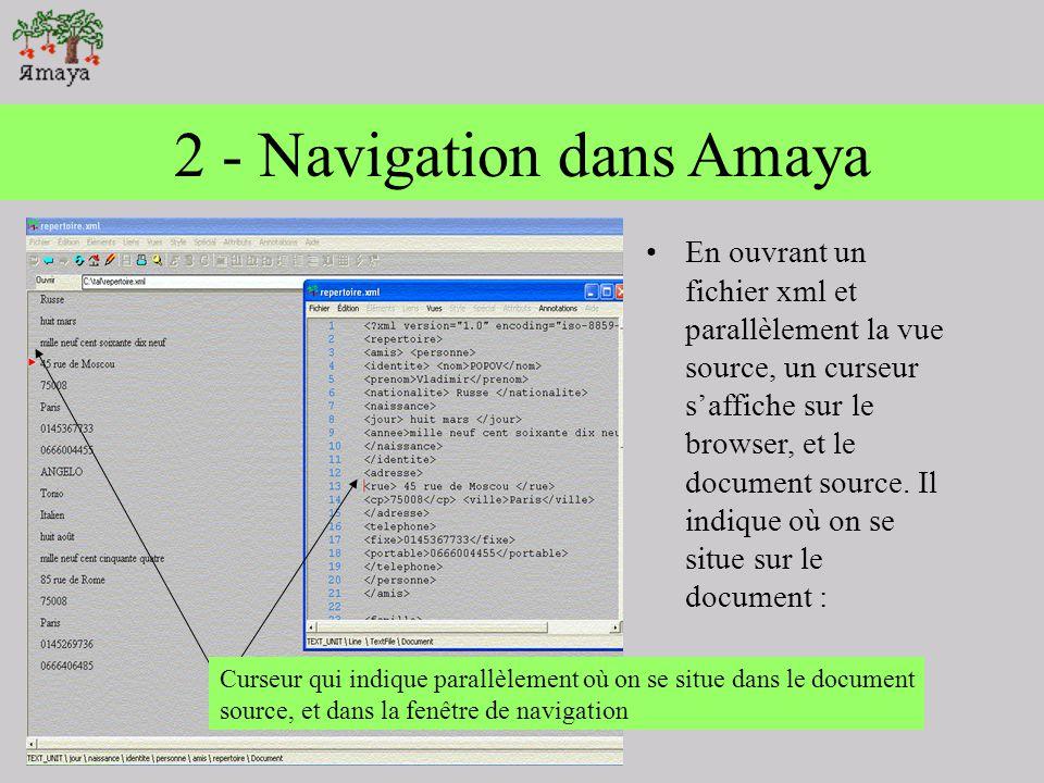 2 - Navigation dans Amaya