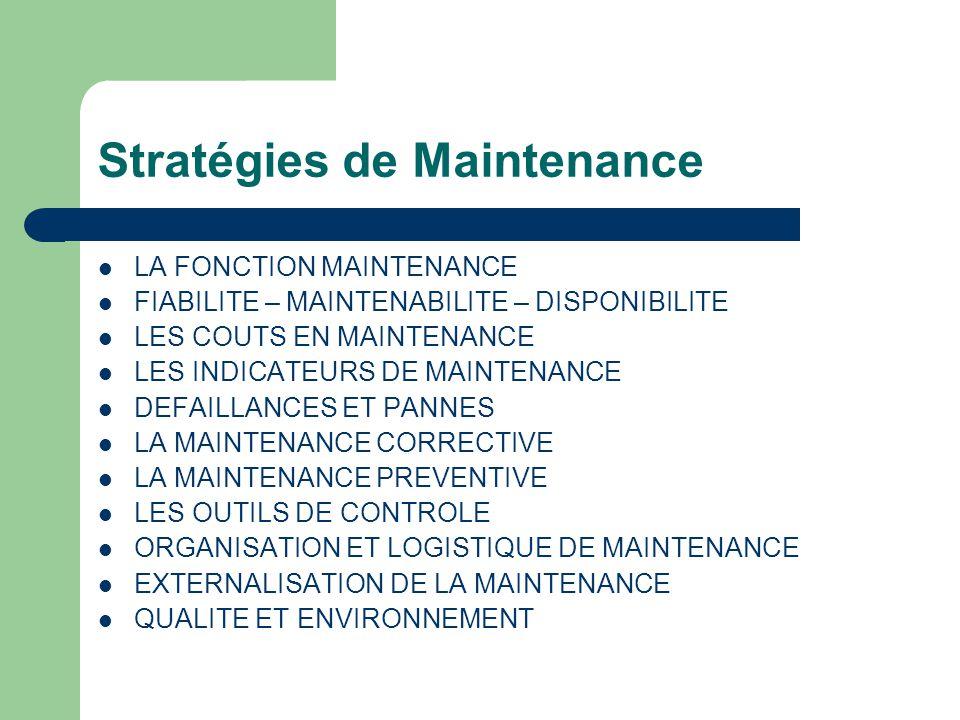 Stratégies de Maintenance