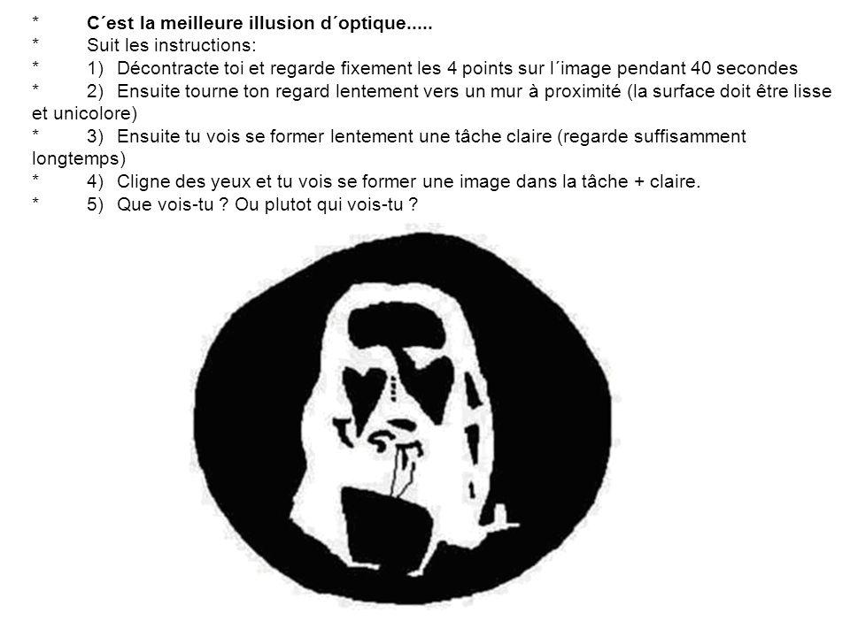 C´est la meilleure illusion d´optique. Suit les instructions:. 1)