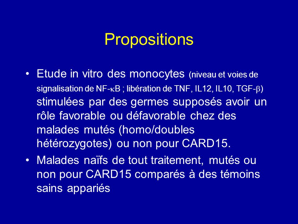 Propositions