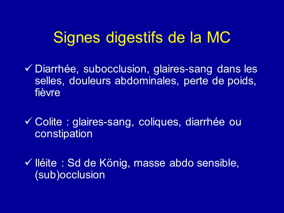 Signes digestifs de la MC