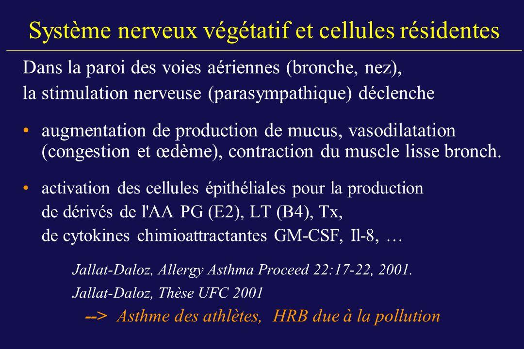 Système nerveux végétatif et cellules résidentes