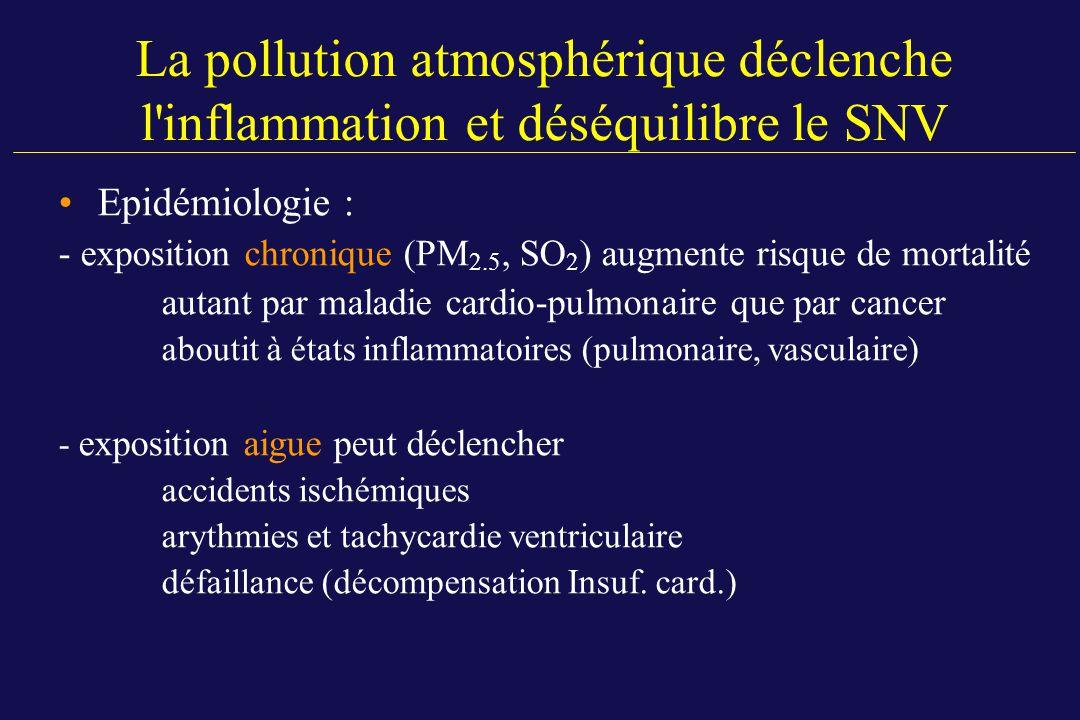 La pollution atmosphérique déclenche l inflammation et déséquilibre le SNV