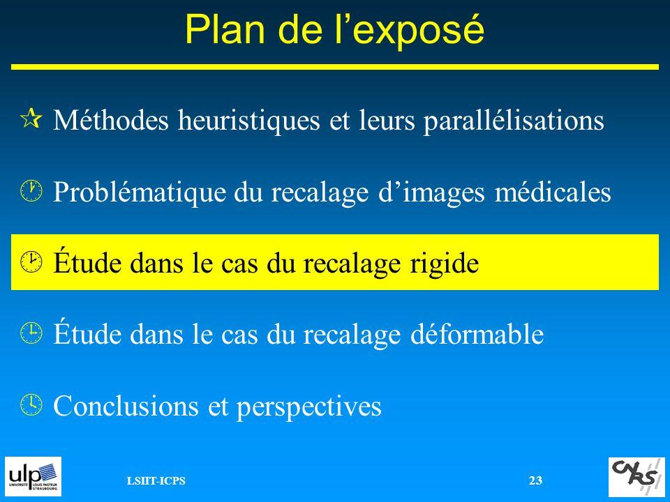 Plan de l'exposé Méthodes heuristiques et leurs parallélisations