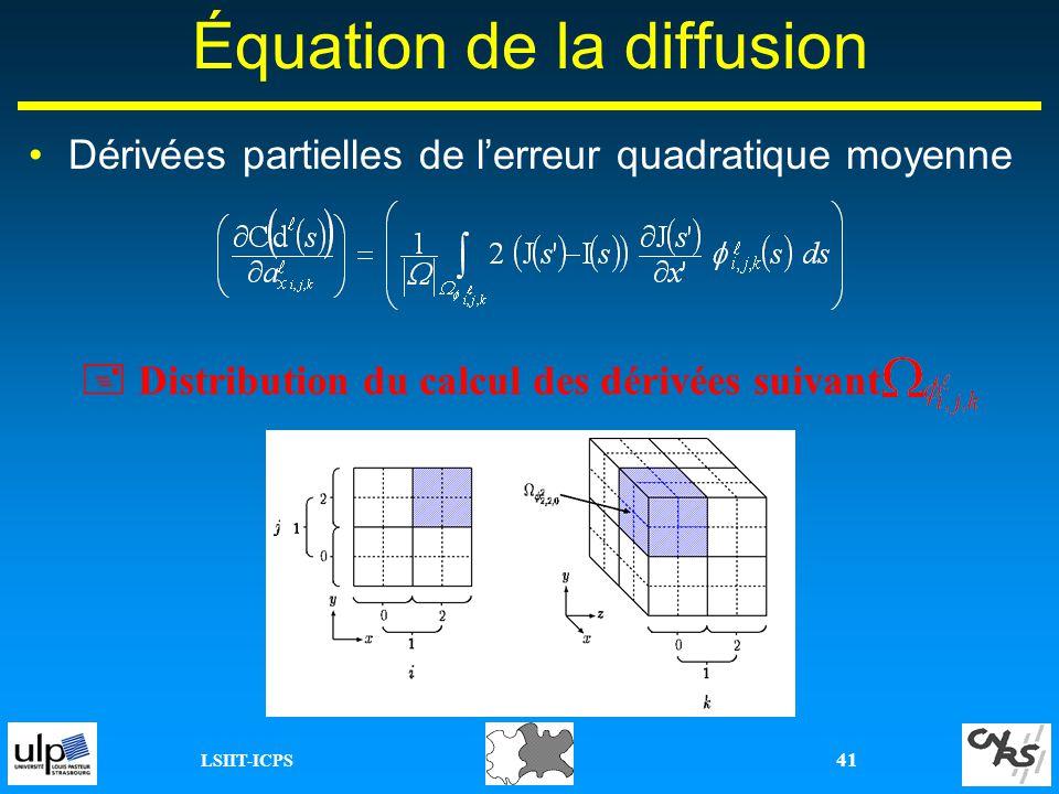 Équation de la diffusion