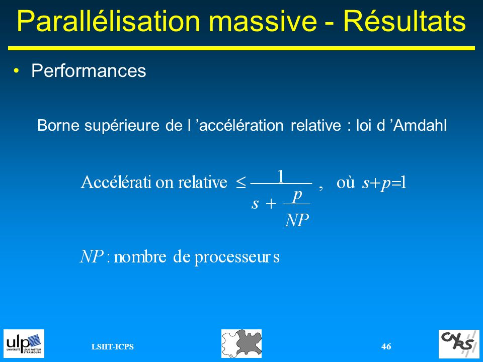 Parallélisation massive - Résultats