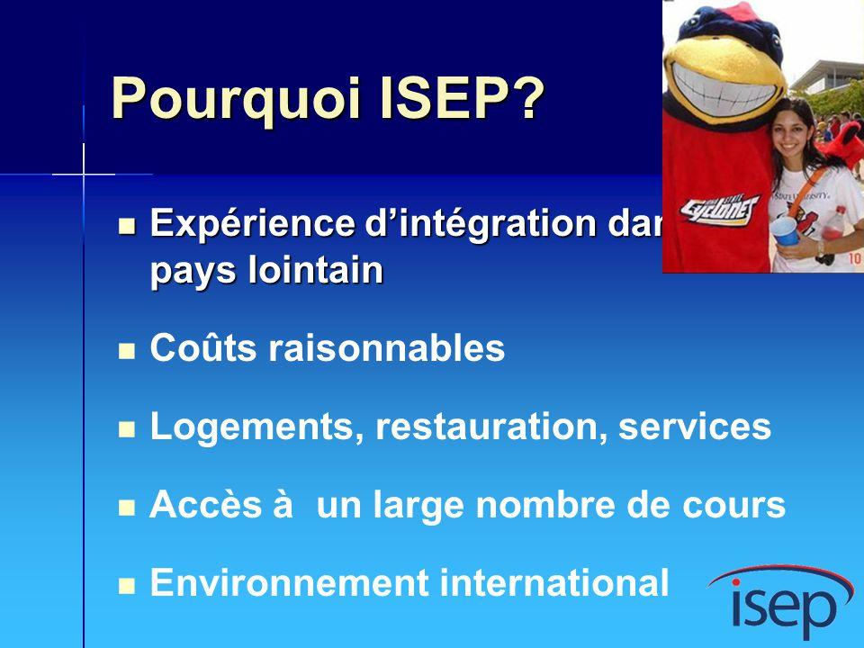 Pourquoi ISEP Expérience d'intégration dans un pays lointain