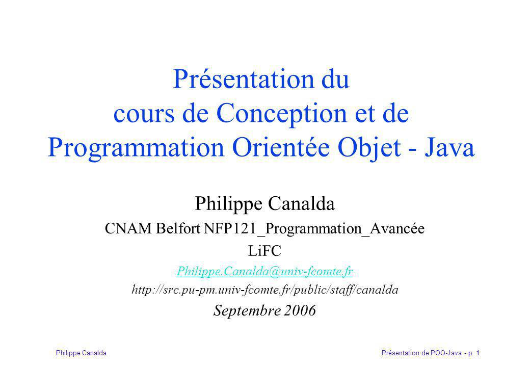 CNAM Belfort NFP121_Programmation_Avancée