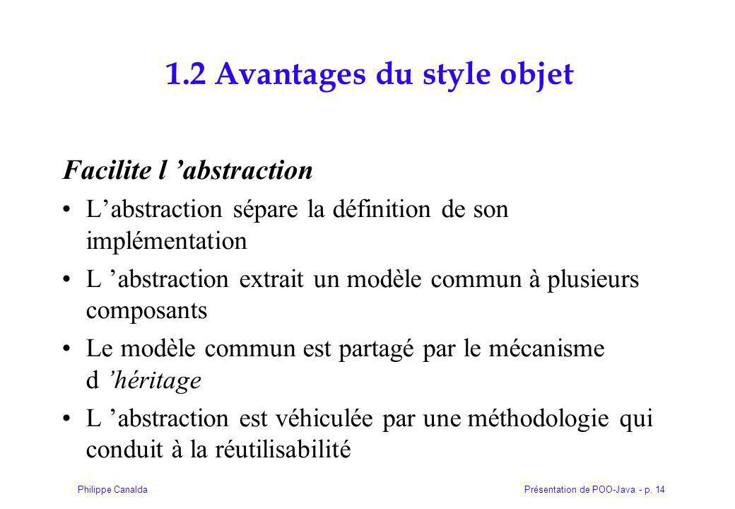 1.2 Avantages du style objet