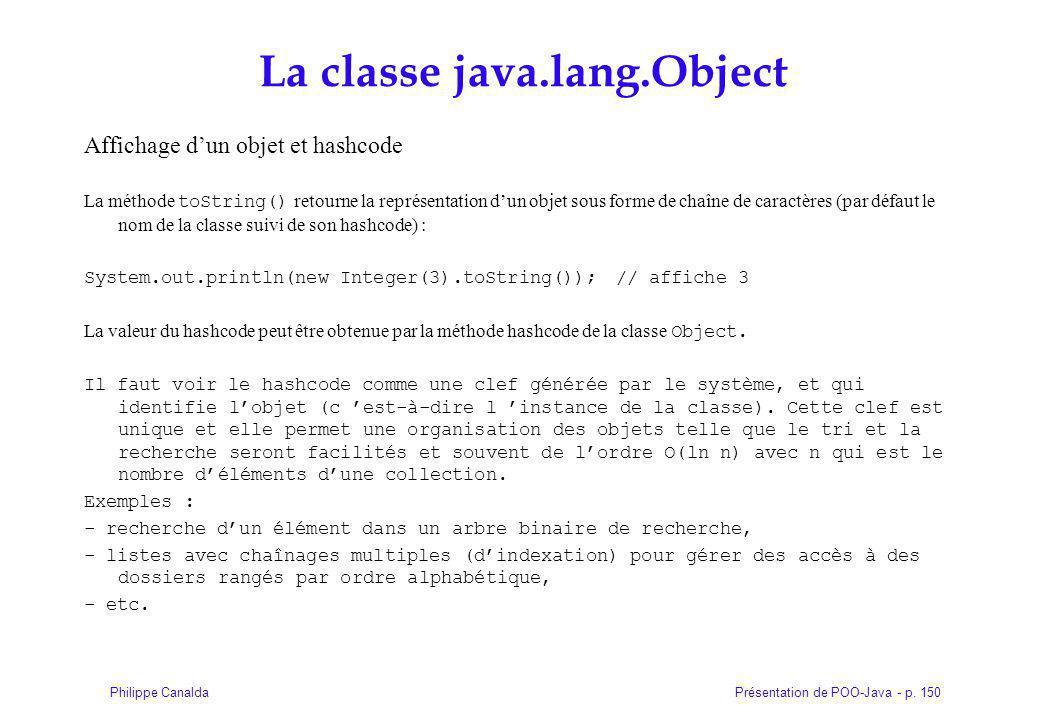 La classe java.lang.Object