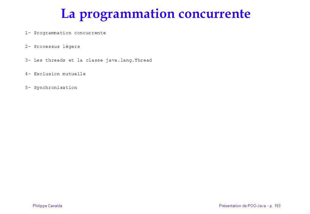 La programmation concurrente