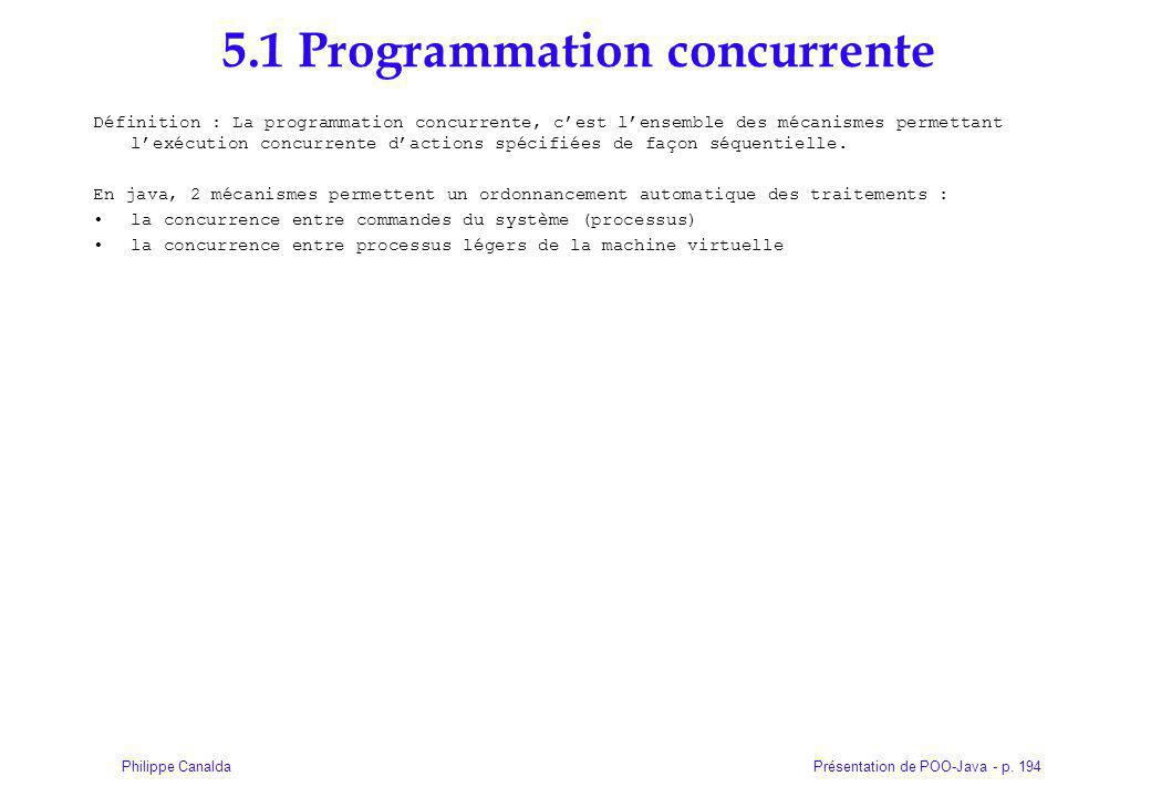 5.1 Programmation concurrente