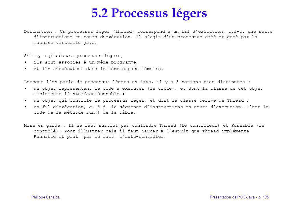 5.2 Processus légers