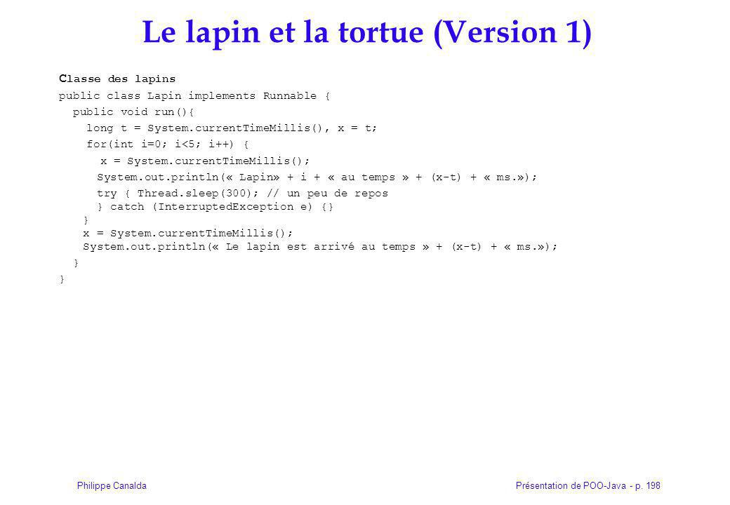Le lapin et la tortue (Version 1)