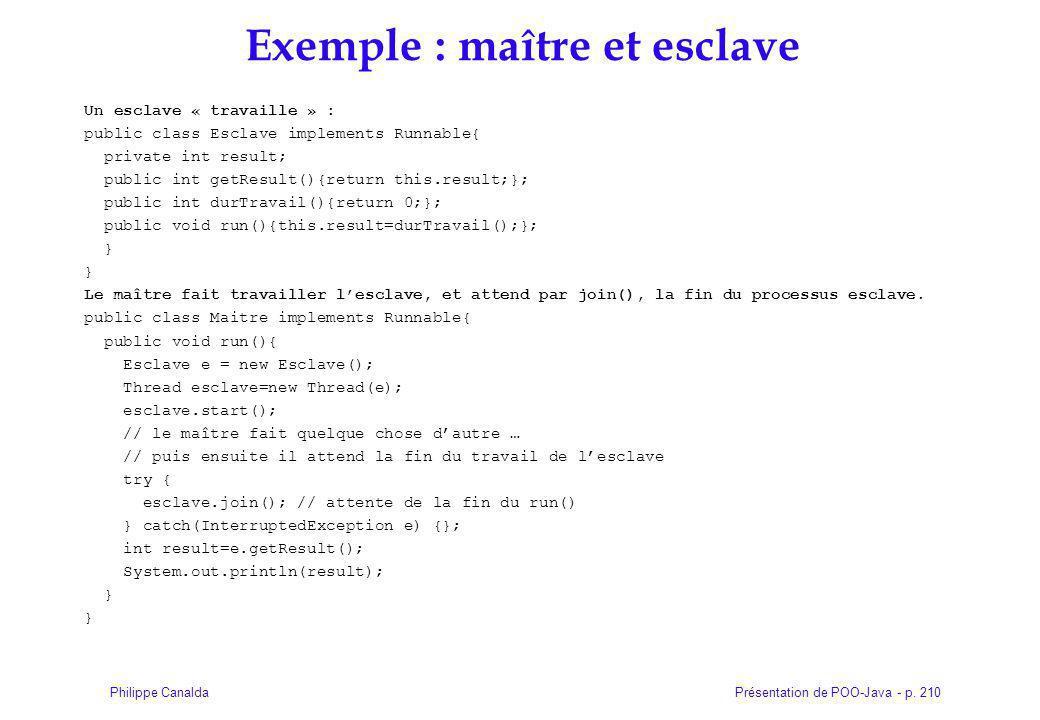 Exemple : maître et esclave