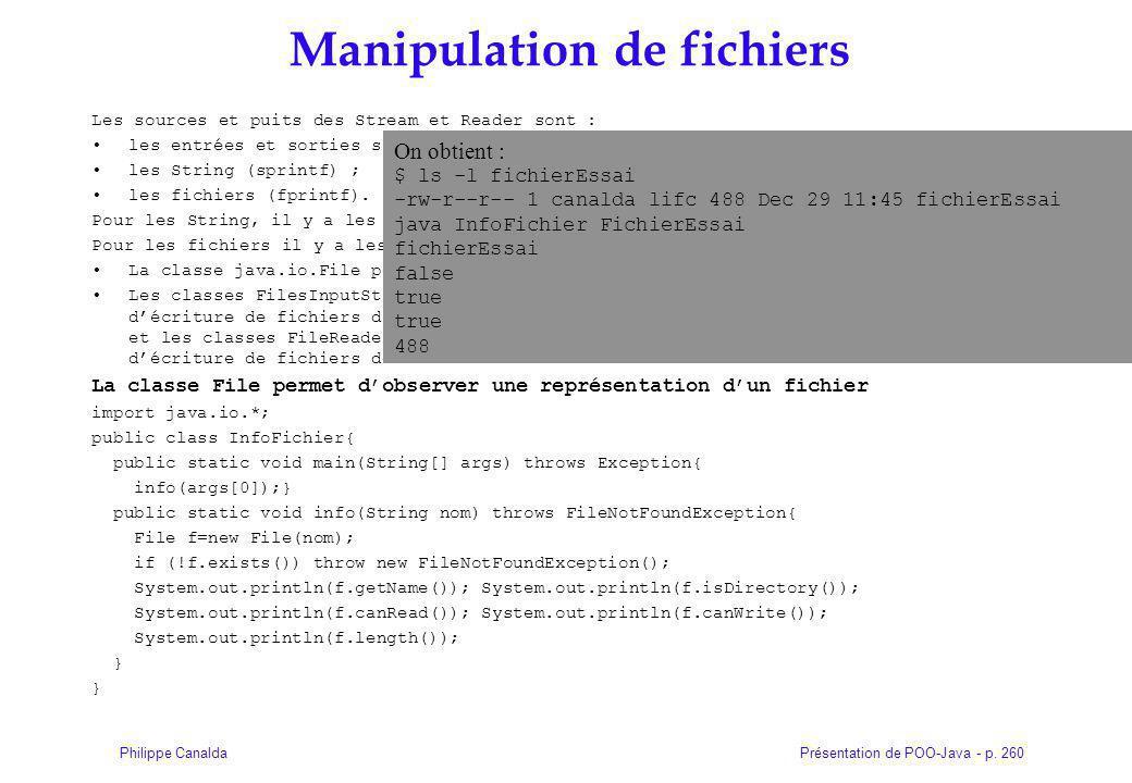 Manipulation de fichiers