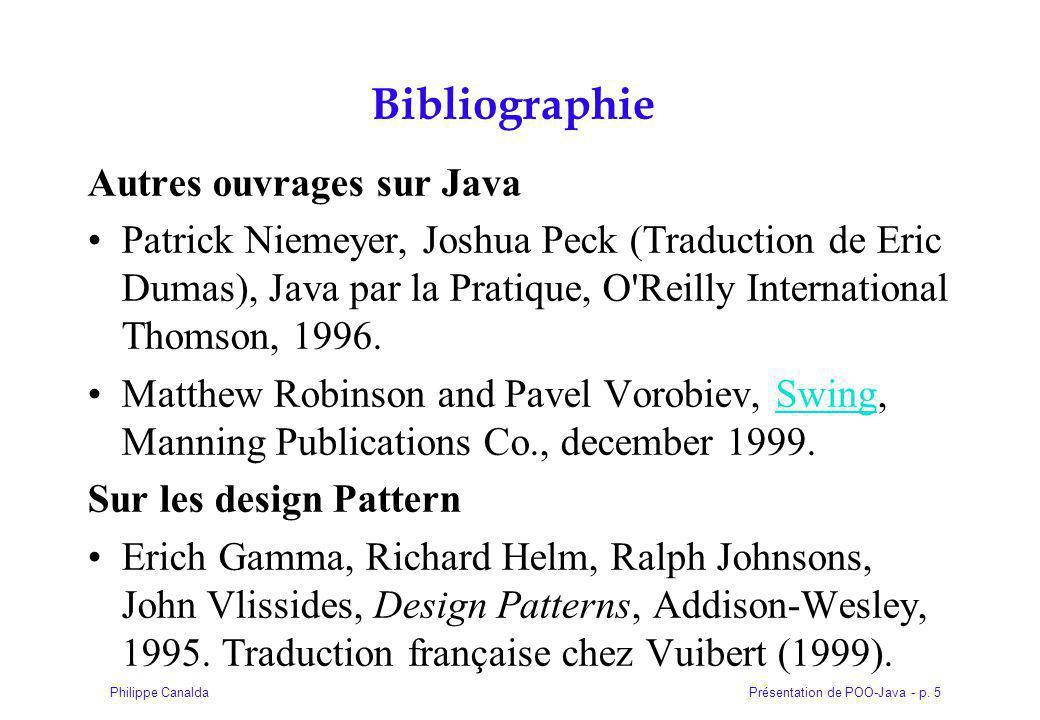 Bibliographie Autres ouvrages sur Java