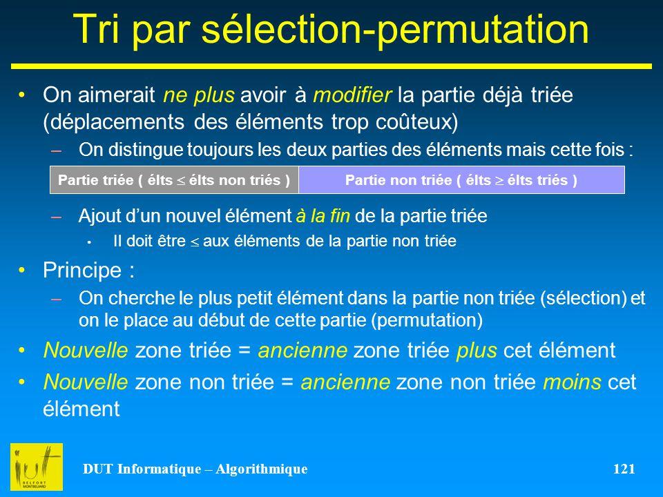 Tri par sélection-permutation