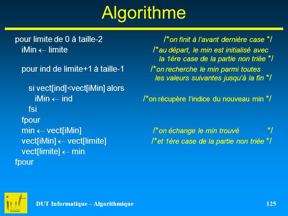 DUT Informatique – Algorithmique 125