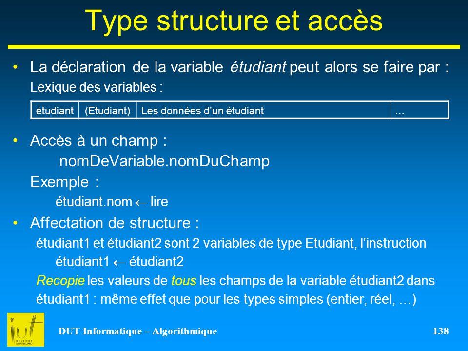 Type structure et accès