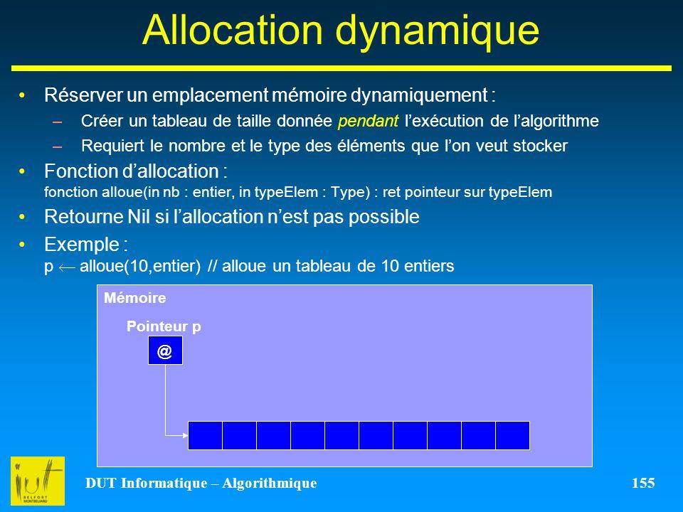 DUT Informatique – Algorithmique 155