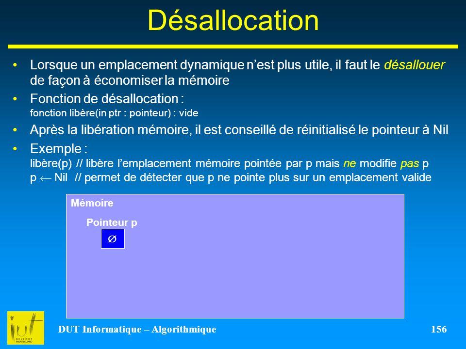 DUT Informatique – Algorithmique 156