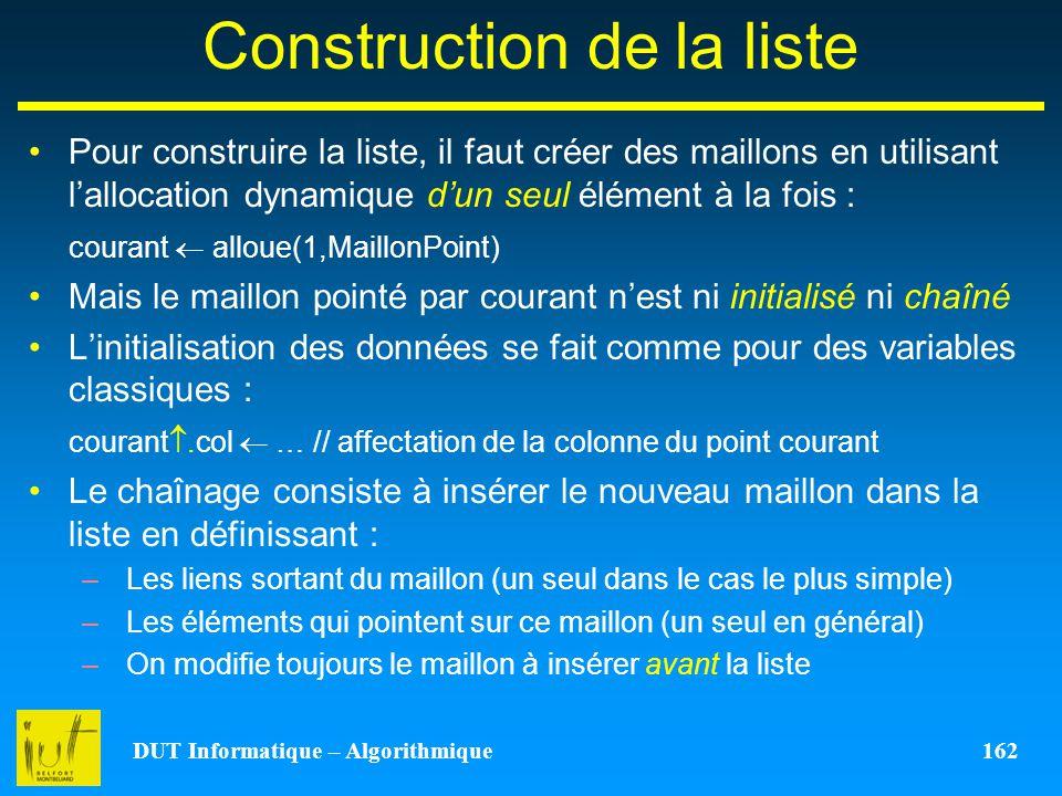 Construction de la liste