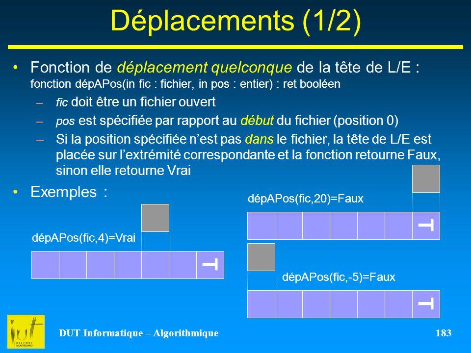 DUT Informatique – Algorithmique 183