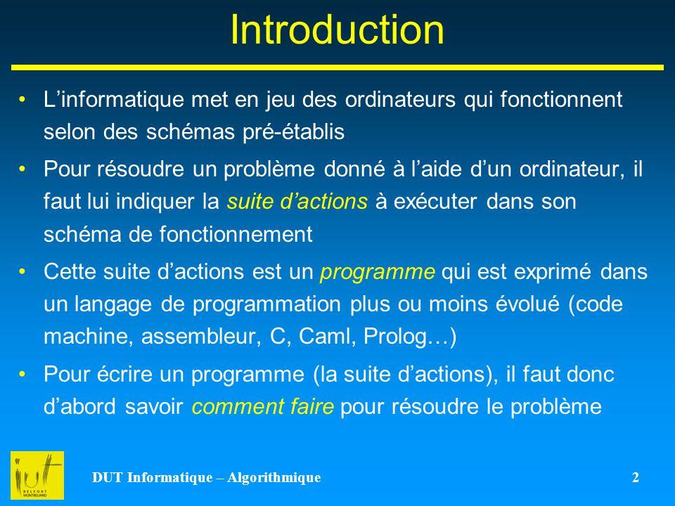 DUT Informatique – Algorithmique 2