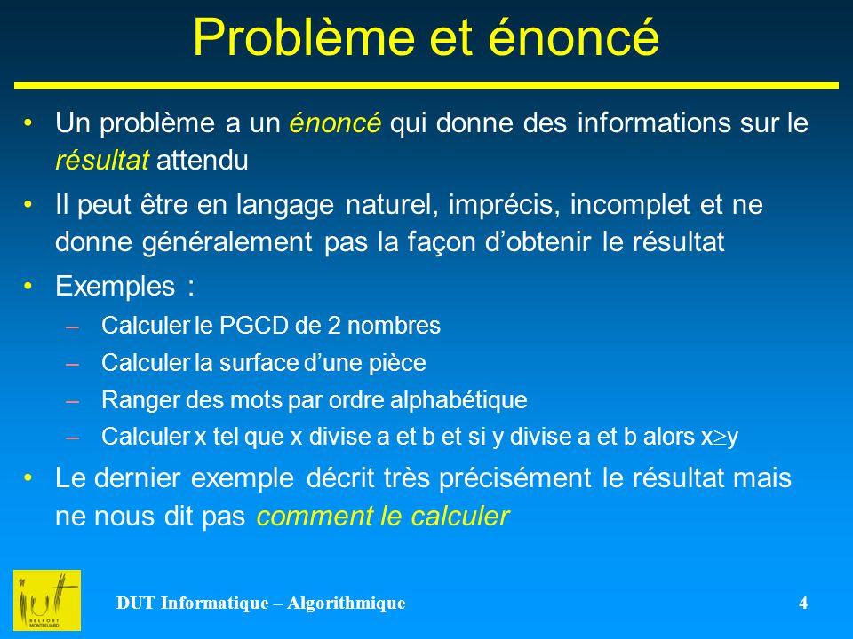 DUT Informatique – Algorithmique 4
