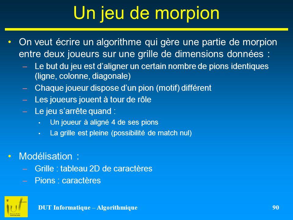 DUT Informatique – Algorithmique 90