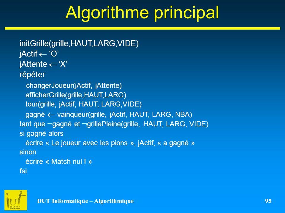 DUT Informatique – Algorithmique 95