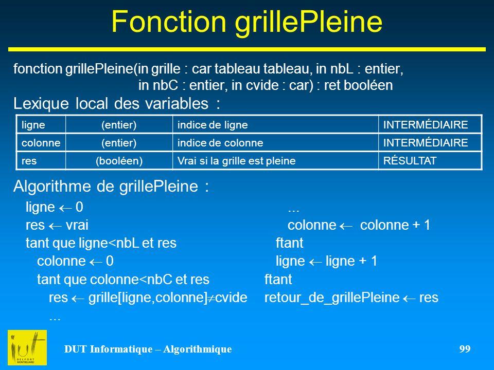 Fonction grillePleine