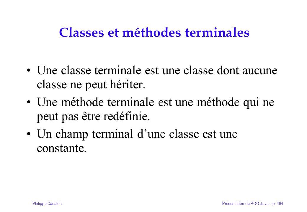 Classes et méthodes terminales