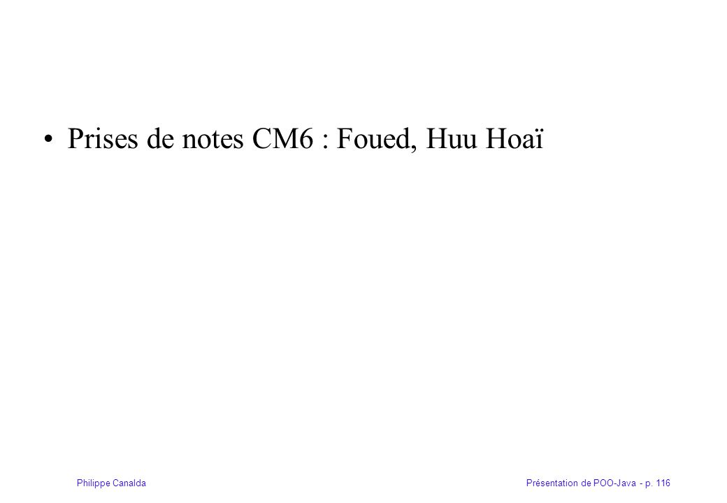 Prises de notes CM6 : Foued, Huu Hoaï