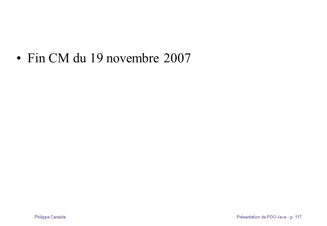 Fin CM du 19 novembre 2007