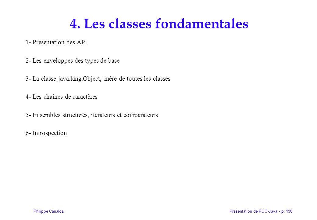 4. Les classes fondamentales